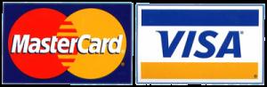 Mastercard and Visa logos